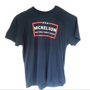 Phil Mickelson Navy Golf Graphic Tee Shirt 3XL